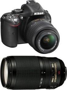 Nikon D5200 DSLR Camera (18-105mm + 70-300mm VR Lens)