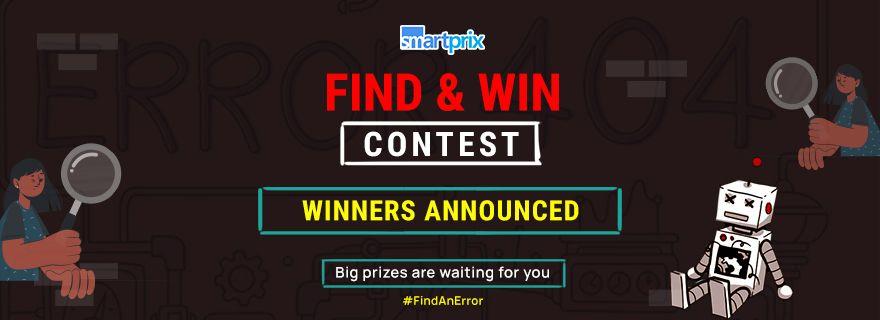 Accept the #FindAnError Challenge and Win Prizes | Smartprix