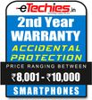 Etechies SmartPhone 1 Year Extended Accidental Damage Protection (For Device Worth Rs 8001 - 10000)