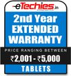 Etechies Tablets 1 Year Extended Basic Protection For Device Worth Rs 2001 - 5000