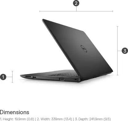 Dell Vostro 3490 Laptop (10th Gen Core i3/ 4GB/ 1TB/ Win10 Home)