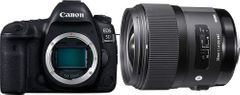 Canon EOS 5D Mark IV 30.4MP DSLR Camera Body Only with Sigma 35mm F/1.4 DG HSM Art Lens