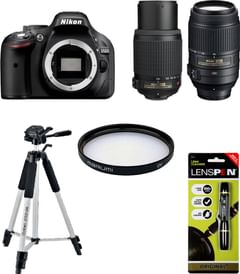 Nikon D5200 DSLR Camera (AF-S 18-55mm + 55-200mm VR Lens)