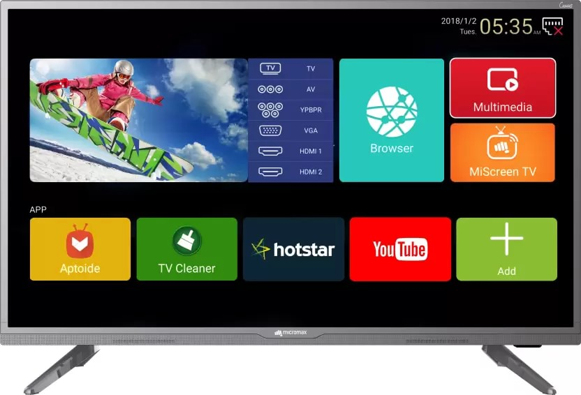 c8b779ad0 Micromax 32 Canvas 3 (32-inch) HD Ready Smart LED TV Best Price in India  2019