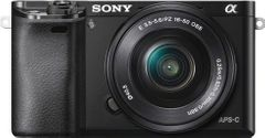 Sony Alpha ILCE-6000L 24.3 Mirrorless Camera (SELP 16-50 Lens)