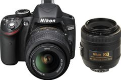 Nikon D3200 (with AF-S 18 - 55mm VR Kit + AF-S DX NIKKOR 35 mm f/1.8G DSLR Camera)