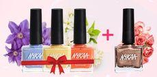 Buy any 3 Nykaa Nail Enamels & Get 1 Shimmer Polish FREE