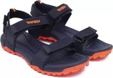 Asian Men Navy-Orange Sports Sandals