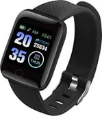 Lioncrown LC116 Plus Touch Ultra HD Waterproof Fitness Smartwatch (Black)