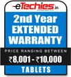 Etechies Tablets 1 Year Extended Basic Protection For Device Worth Rs 8001 - 10000