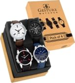 Gesture Exclusive Combo of 4 Men's Watch-9013