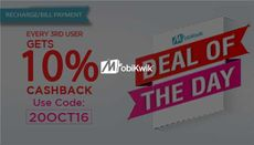 Deal of the Day: Recharge or Pay Bills & Every 3rd User Get 10% Cashback
