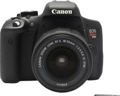 Canon EOS Rebel T6i DSLR Camera (EF-S 18-55mm + 55-250mm Lens)