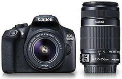 Canon EOS 1300D DSLR Camera (EF-S 18-55 IS II + 55-250 IS II)