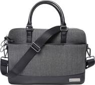 "Red Lemon London Executive Laptop Messenger Bag with Microfiber Leather for 15"" – Black"