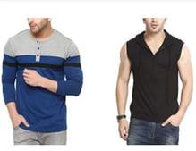 Tshirts, Hoodies & More by Gritstones & Vvoguish- Under 449